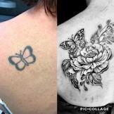 schulter tattoo blumen